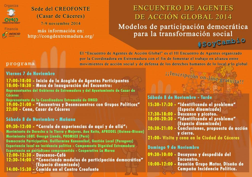 Programa Encuentro CONGDEX 2014 definitivo