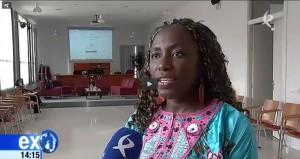Aua Keita, de Aprodel, Guinea-Bissau, habla para Canal Extremadura TV del III Encuentro de Actores de Acción Social que organiza la CONGDEX en Casar de Cáceres, los días 7, 8 y 9 de noviembre 2014