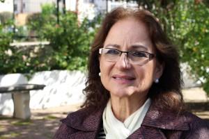 Guillermina Kanonnikoff momentos antes del Encuentro en casar de Cáceres./ CONGDEX