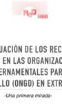 «La situación de los recursos humanos en las Organizaciones No Gubernamentales para el Desarrollo en Extremadura – Una primera mirada» Fundación Paz y Solidaridad Gregorio Morán
