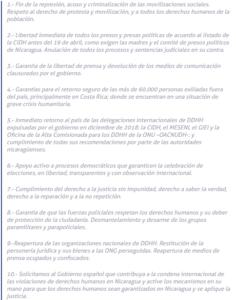 Manifiesto Nicaragua ONGD