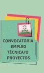 CONVOCATORIA DE EMPLEO TÉCNICA/O PROYECTO CONGDEX